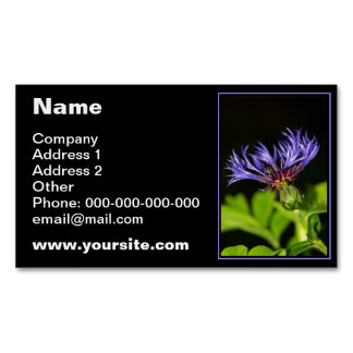 Cornflower 2 business card magnet