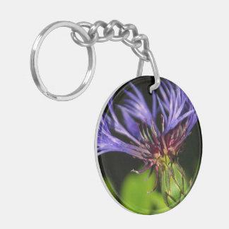Cornflower 2 Double-Sided round acrylic keychain