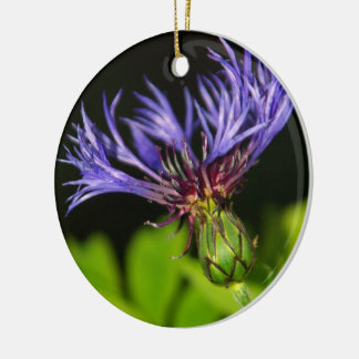 Cornflower 2 Double-Sided ceramic round christmas ornament