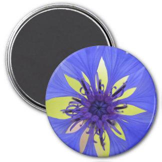cornflower 3 inch round magnet