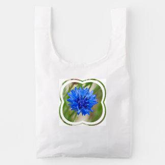 Cornflower azul bolsa reutilizable