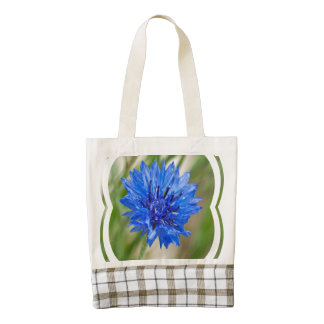 Cornflower azul bolsa tote zazzle HEART