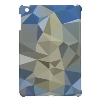 Cornflower Blue Abstract Low Polygon Background iPad Mini Cases