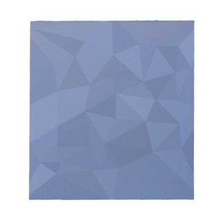 Cornflower Blue Abstract Low Polygon Background Notepad