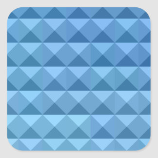 Cornflower Blue Abstract Low Polygon Background Square Sticker