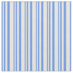 [ Thumbnail: Cornflower Blue and Beige Lines/Stripes Pattern Fabric ]