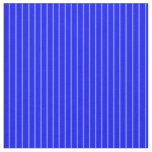 [ Thumbnail: Cornflower Blue and Blue Colored Pattern Fabric ]