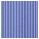 [ Thumbnail: Cornflower Blue and Dark Slate Blue Stripes Fabric ]