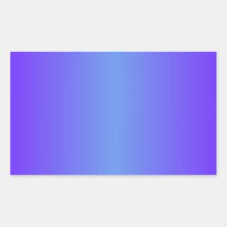 Cornflower Blue and Electric Indigo Gradient Rectangular Sticker