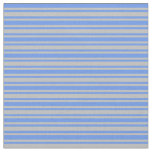 [ Thumbnail: Cornflower Blue and Grey Colored Stripes Fabric ]