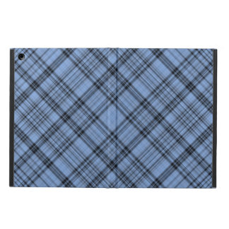 Cornflower Blue and Grey Plaid iPad Air Case