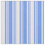 [ Thumbnail: Cornflower Blue and Lavender Pattern of Stripes Fabric ]