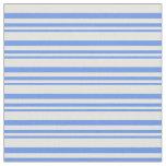 [ Thumbnail: Cornflower Blue and Light Cyan Colored Pattern Fabric ]
