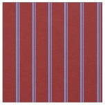 [ Thumbnail: Cornflower Blue and Maroon Colored Lines Fabric ]