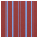 [ Thumbnail: Cornflower Blue and Maroon Pattern Fabric ]