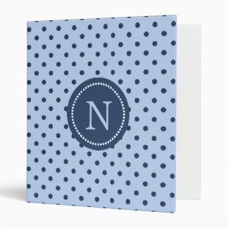 Cornflower Blue and Navy Blue Binder