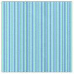 [ Thumbnail: Cornflower Blue & Aquamarine Striped Pattern Fabric ]