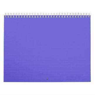 Cornflower Blue Backgrounds on a Calendar