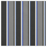 [ Thumbnail: Cornflower Blue, Beige, Black, Grey, Midnight Blue Fabric ]