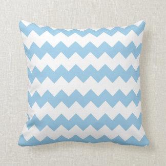 Cornflower Blue Block Chevron Pillow