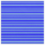 [ Thumbnail: Cornflower Blue & Blue Colored Lines Pattern Fabric ]