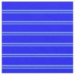 [ Thumbnail: Cornflower Blue & Blue Lined Pattern Fabric ]
