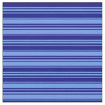 [ Thumbnail: Cornflower Blue & Blue Stripes/Lines Pattern Fabric ]