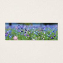 Cornflower Blue Bookmarks Mini Business Card