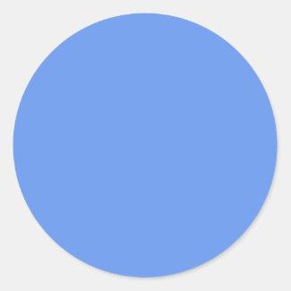 CORNFLOWER BLUE CLASSIC ROUND STICKER