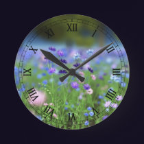 Cornflower Blue Clock