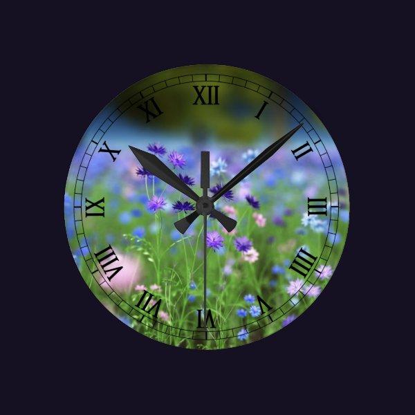 Cornflower Blue Clock