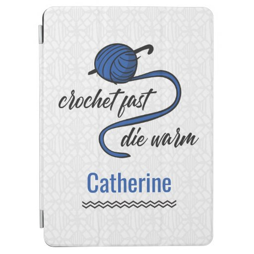 Cornflower Blue Crochet Fast, Die Warm iPad Air Cover