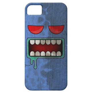 Cornflower Blue Drooling Red-Eyed Monster Face iPhone SE/5/5s Case