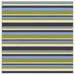 [ Thumbnail: Cornflower Blue, Green, Beige & Black Colored Fabric ]