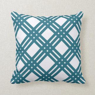 Blue Lattice Throw Pillow : Cornflower Blue Pillows - Decorative & Throw Pillows Zazzle