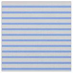 [ Thumbnail: Cornflower Blue & Light Gray Colored Pattern Fabric ]