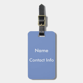Cornflower Blue Luggage Tag