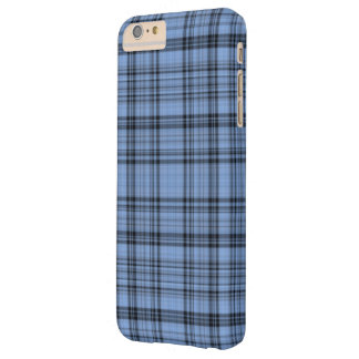 Cornflower Blue Plaid Barely There iPhone 6 Plus Case