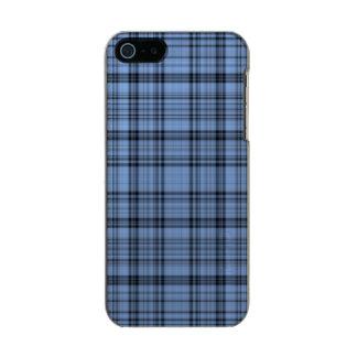 Cornflower Blue Plaid iPhone 5 Case