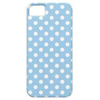 Cornflower Blue Polka Dot Iphone 5 Case