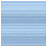 [ Thumbnail: Cornflower Blue & Powder Blue Stripes Fabric ]
