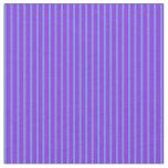 [ Thumbnail: Cornflower Blue & Purple Lines/Stripes Pattern Fabric ]