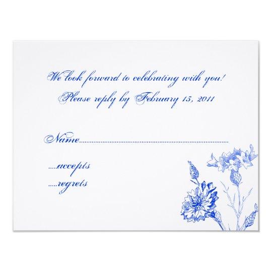 Cornflower Blue RSVP Card