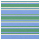 [ Thumbnail: Cornflower Blue, Sea Green, and Bisque Colored Fabric ]