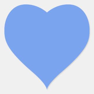 Cornflower Blue Solid Color Heart Sticker