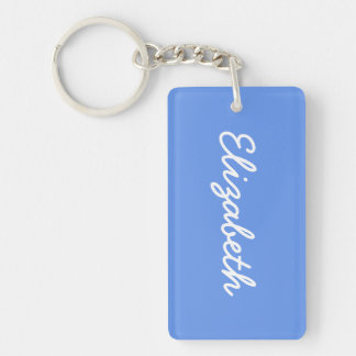 Cornflower Blue Solid Color Keychain
