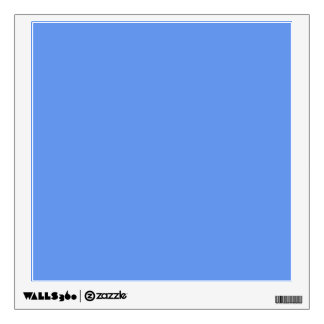 Cornflower Blue Solid Color Wall Decal