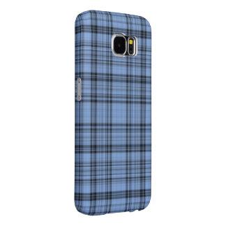Cornflower Blue Tartan Samsung Galaxy S6 Case