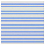 [ Thumbnail: Cornflower Blue & White Striped/Lined Pattern Fabric ]