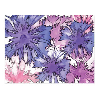 Cornflower Collage Postcard
